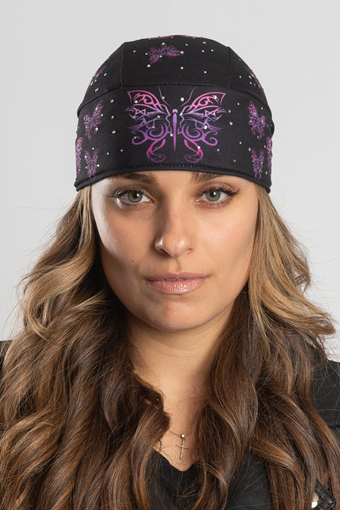 Tribal Butterflies w/Gems Full-Head Wrap
