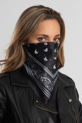 Black Bandana w/Gems Triangle Mask
