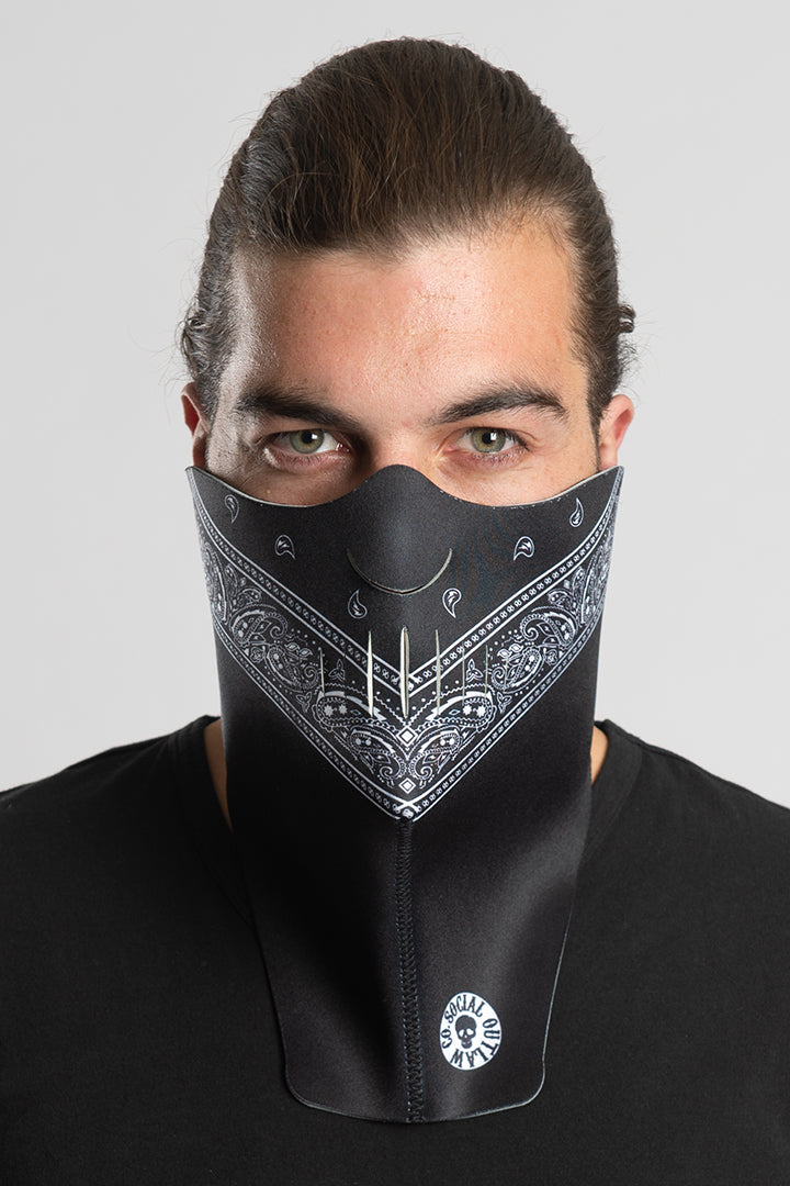 Black Bandana Half Mask