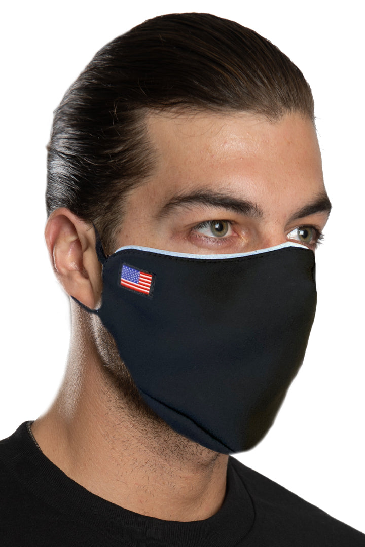 Black Small Flag Face Mask Set