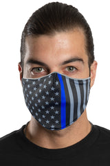 Thin Blue Line Face Mask Set