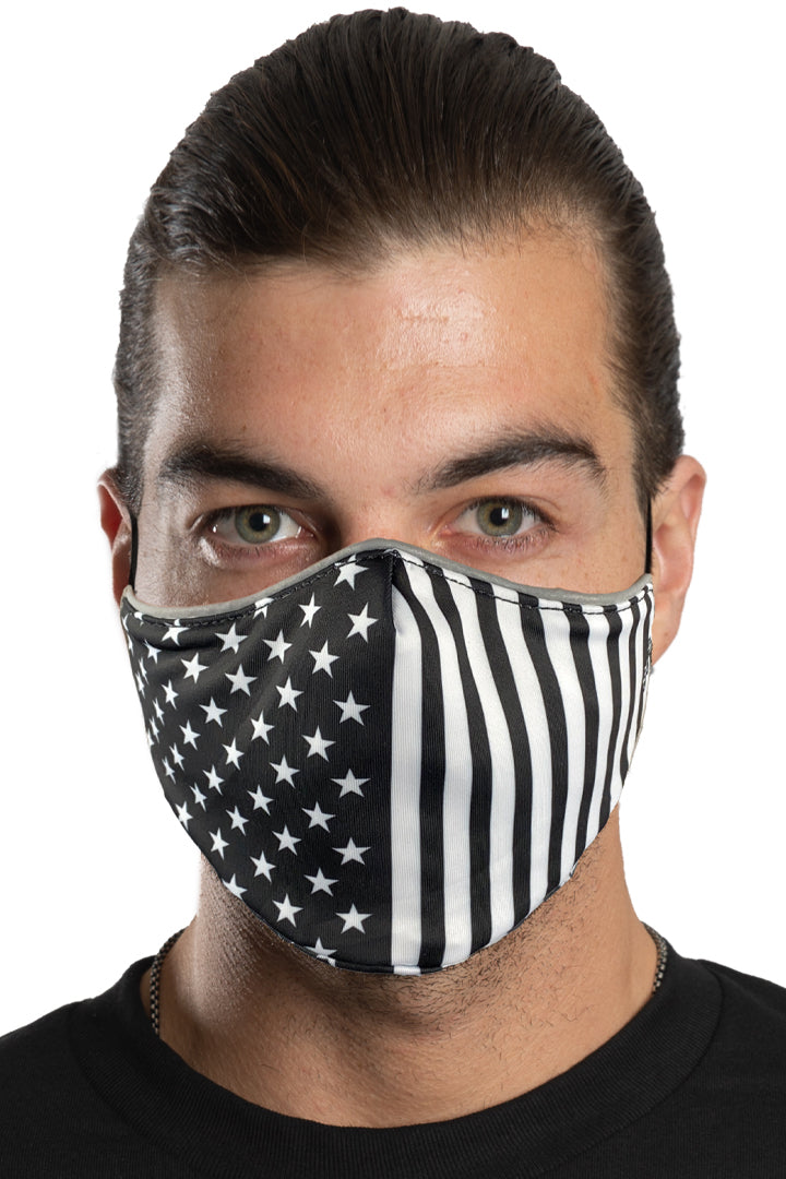 B.W. USA Flag Face Mask Set