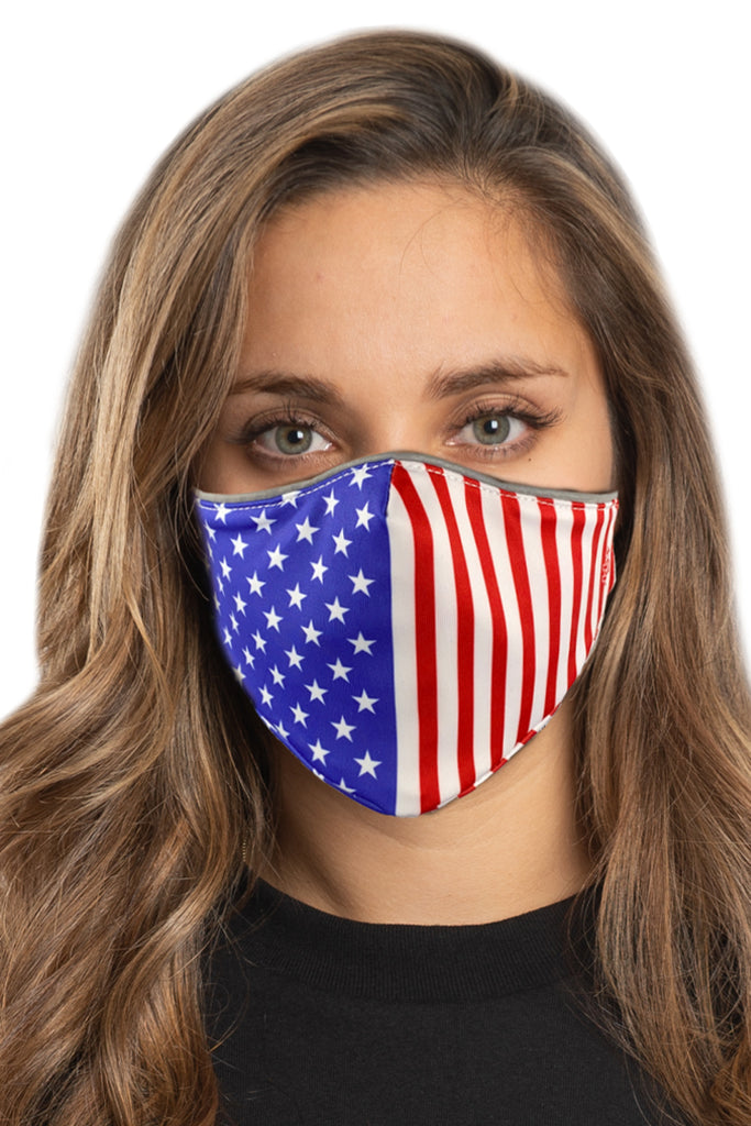 R.W.B USA Flag Face Mask Set