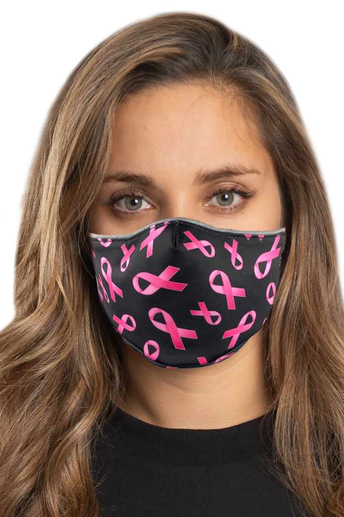Pink Ribbon Face Mask Set