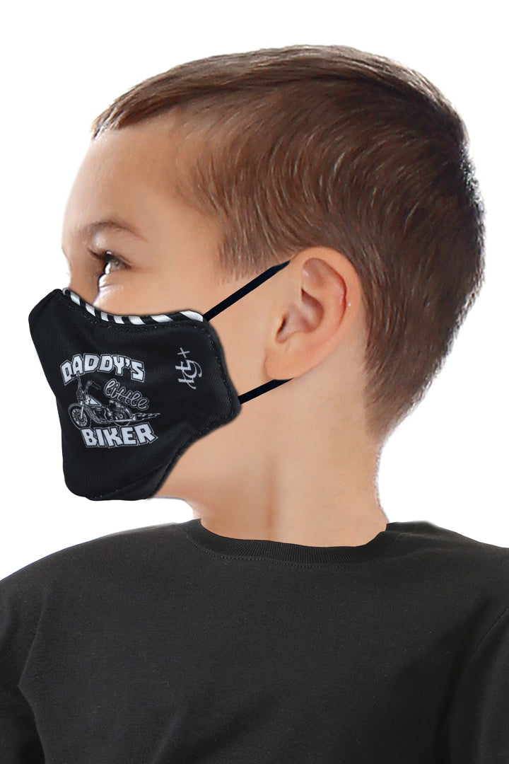 DADDYS LITTLE BIKER Kids Face Mask Set