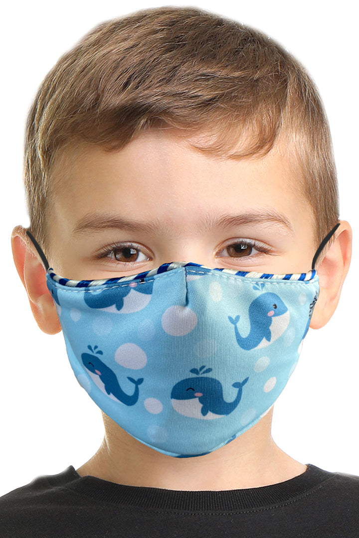 Whales & Bubbles Kids Face Mask Set