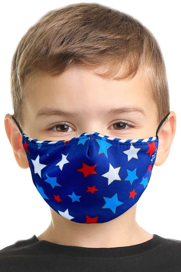 Patriotic Stars Kids Face Mask Set