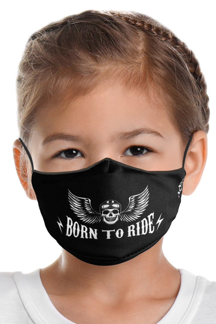 BORN TO RIDE Kids Face Mask Set