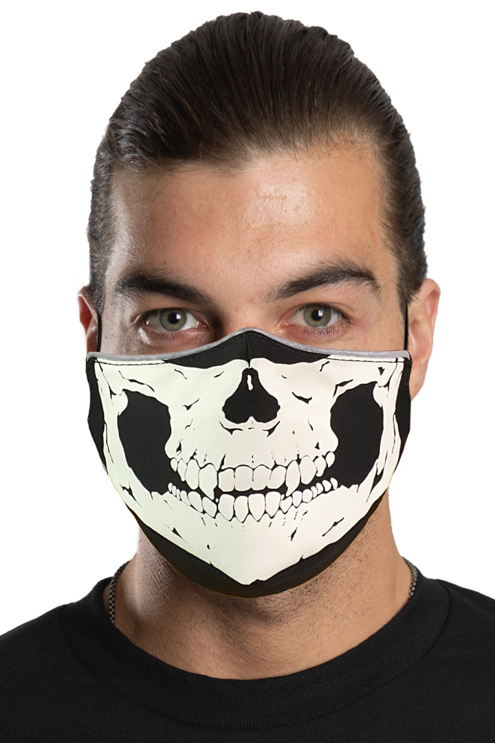 Defleshed Skull (GLOW IN THE DARK) Face Mask Set