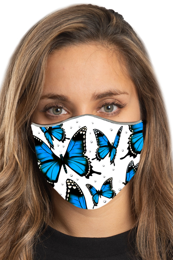 Blue Monarch w/Gems Face Mask Set