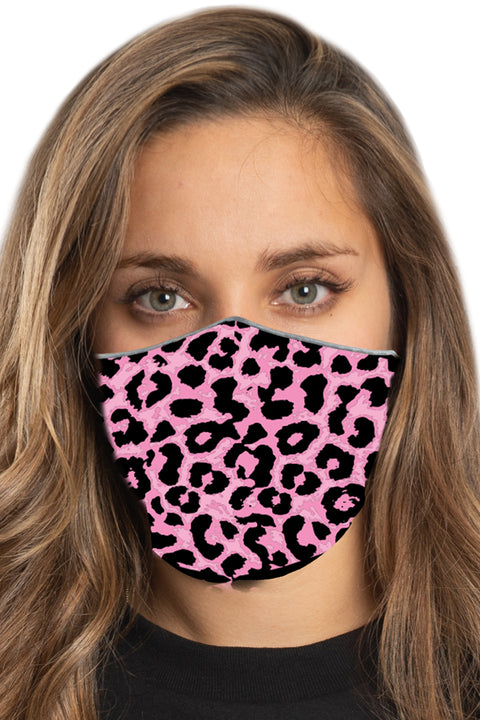 Pink Leopard Face Mask Set