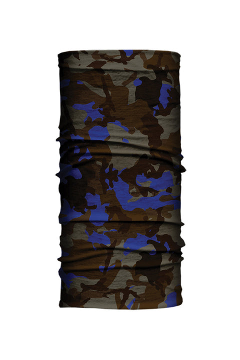 - Multi-Functional Headwear - Blue Camouflage EZ Tube