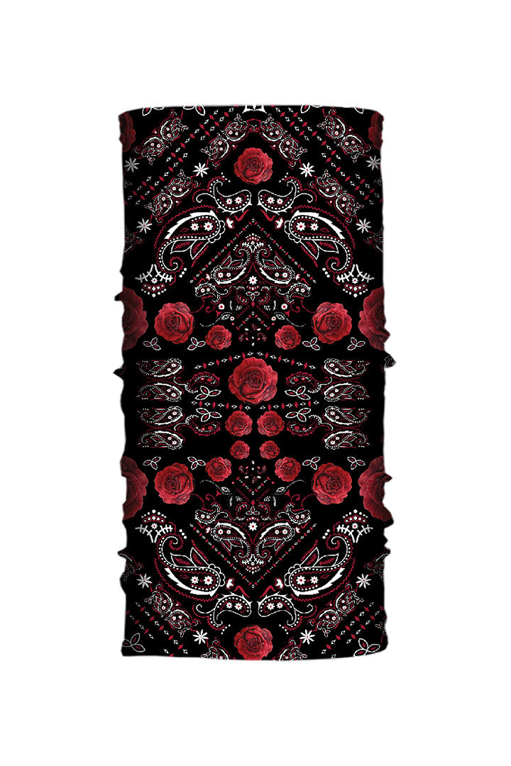 - Multi-Functional Headwear - Roses Paisley EZ Tube - 1