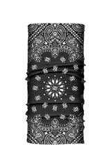 - Multi-Functional Headwear - Black Paisley EZ Tube