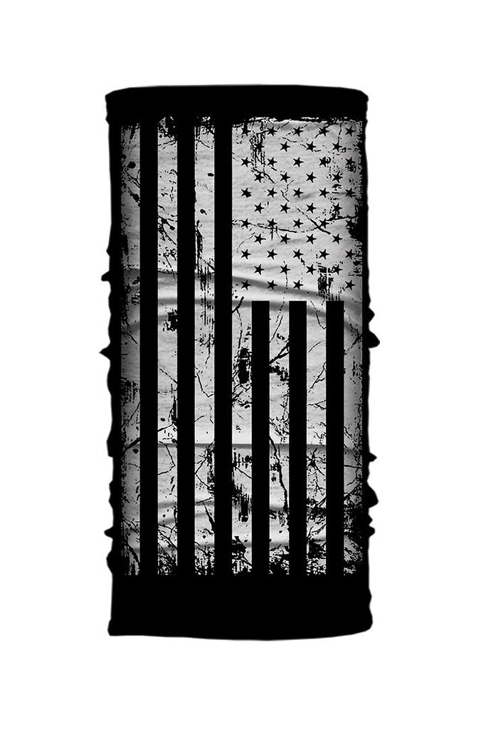 Distressed Black & White USA Flag Light Weight EZ Tube