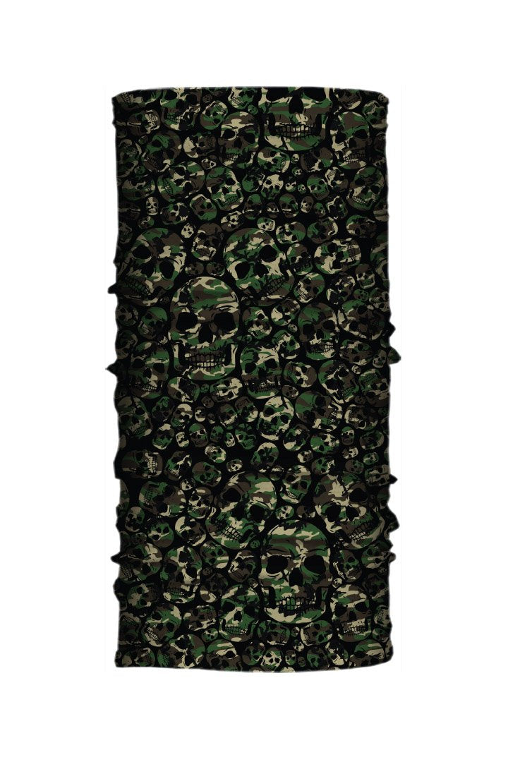 Green Skull Camo Light Weight EZ Tube