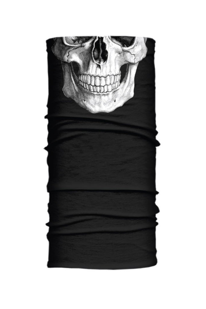 Human Skull (Reflective Ink) Winter Weight EZ Tube
