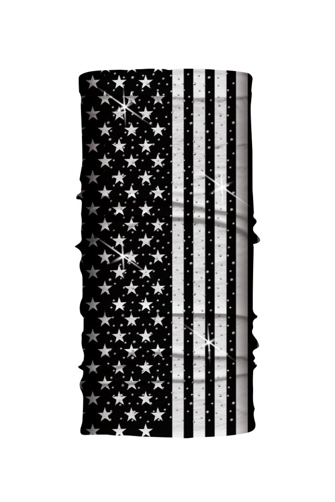 B&W USA Flag w/Gems Soaker EZ Tube
