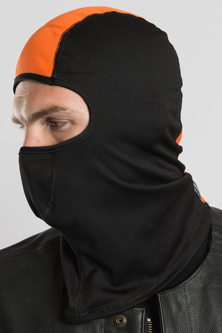 Black w/Orange Stripe (Helmet Liner) Balaclavas