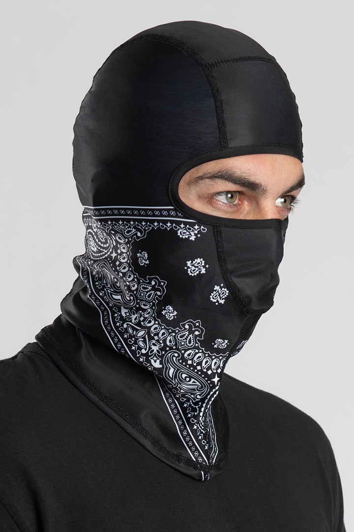Black Paisley (Winter Weight) Balaclavas
