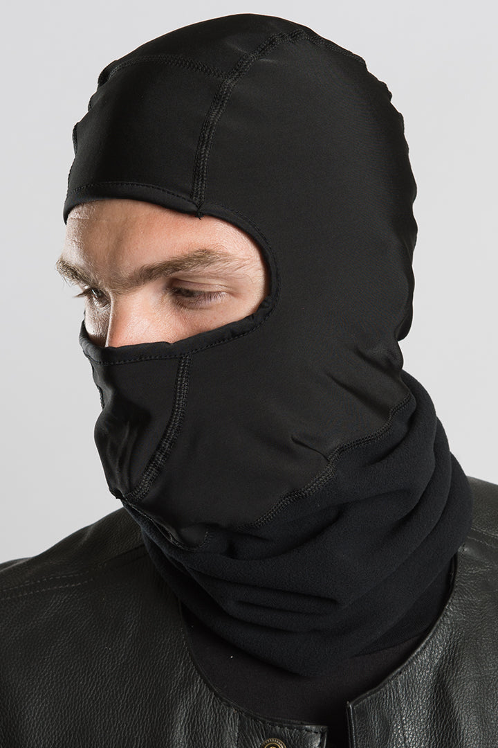 Plain Black w/Neck Fleece (Polar Weight) Balaclavas