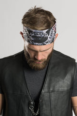 "Americana Light Gray Camouflage 22"" Bandana"
