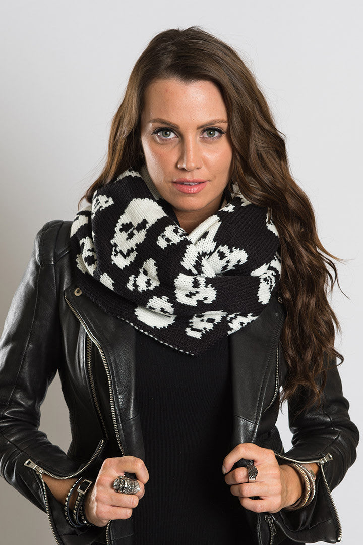 Skull Madness Reversible Infinity Scarf