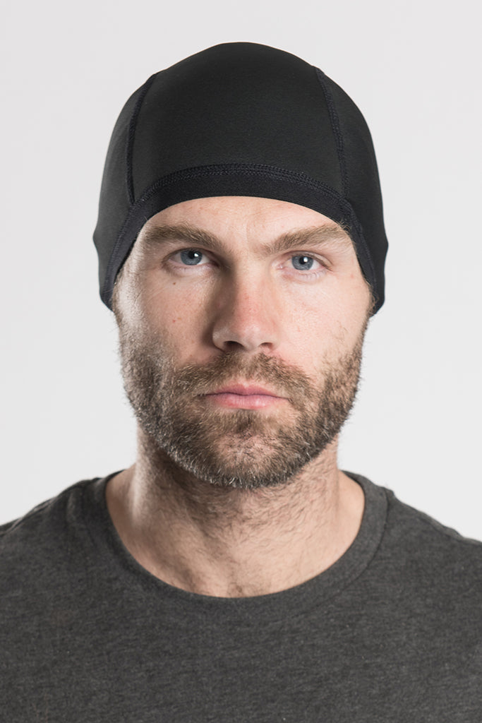 Solid Black Skull Cap Winter Weight