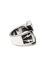 - Stainless Steel Ring - Iron Cross with Bolts Ring - 4