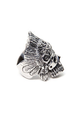 - Stainless Steel Ring - Skull Feathers Ring - 3