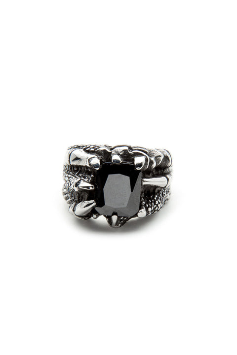 - Stainless Steel Ring - Black Zircon Ring - 1