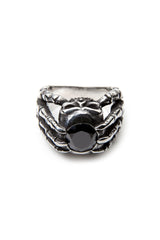 - Stainless Steel Ring - Black Zircon Skull Claws Ring - 1
