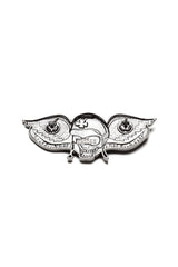 LIVE TO RIDE Helmet & Wings Skull Pin