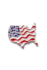 Wavy USA Flag Pin