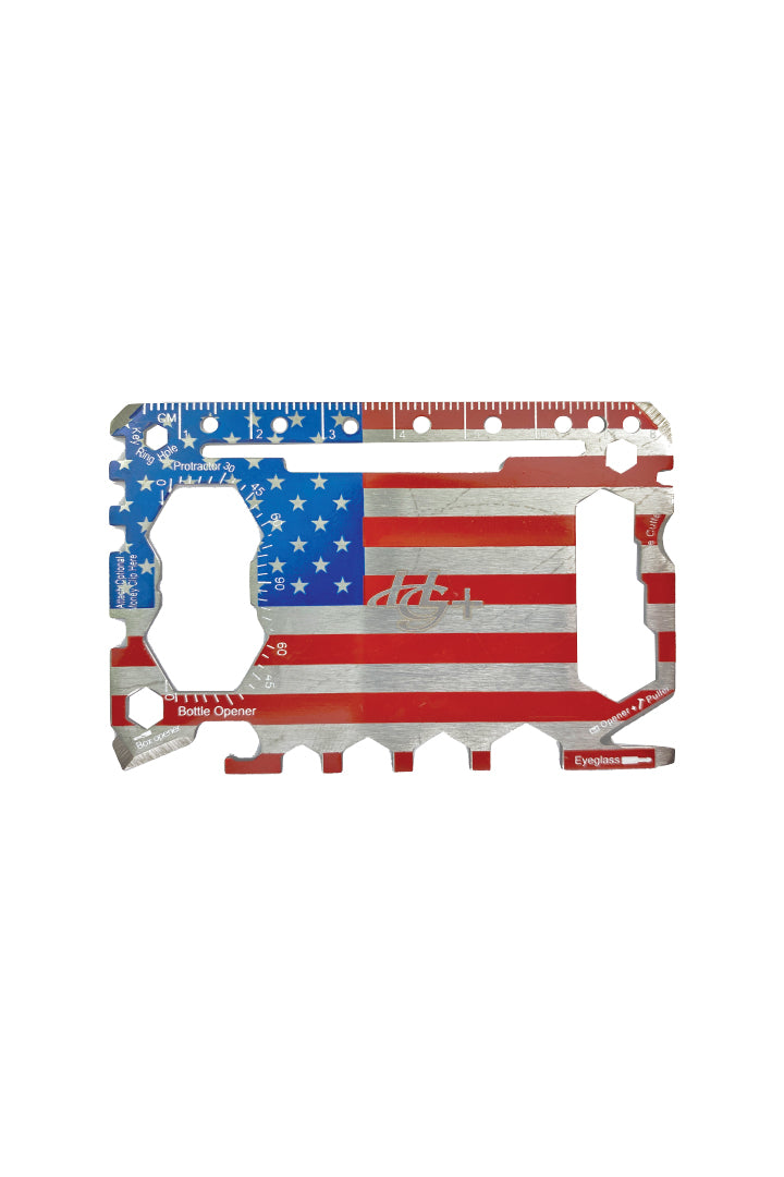USA Flag Stainless Steel Wallet Tool