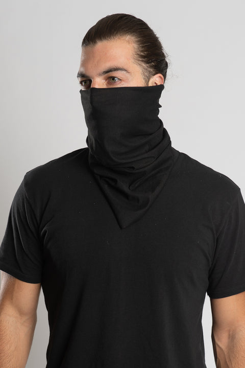 Solid Black Bandana Tube