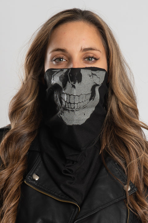 Human Skull (Light-Reflective) Bandana Tube
