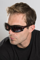Classic Matte Brown Biker Sunglasses