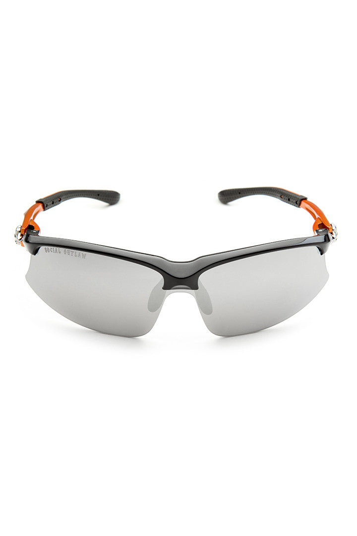 High Performance Metallic Orange Biker Sunglasses