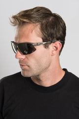 High Performance Matte Gray Biker Sunglasses