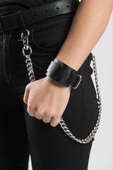 Plain Black High Quality Leather