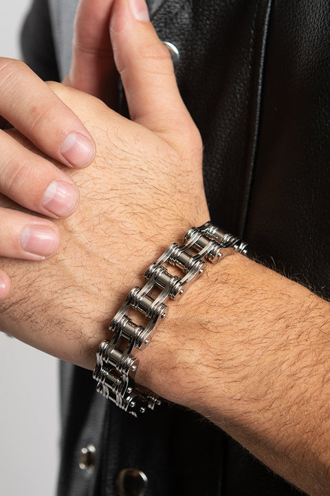 Double Bike Chain (Unisex) Bracelet