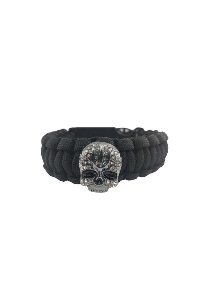 Bling Skull Survival Paracord Bracelet