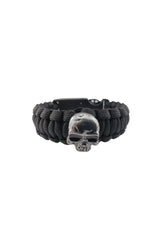 Chrome Skull Survival Paracord Bracelet