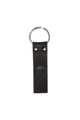 Single Key-Skull Black Leather