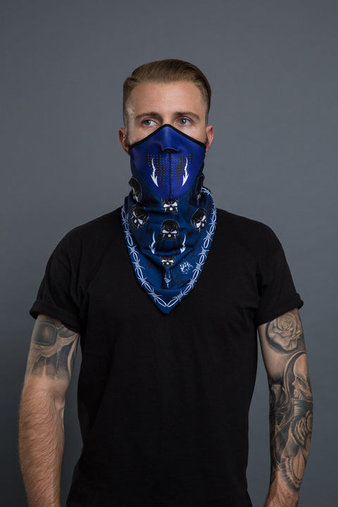 - Bandana Mask - Tribal Skull Bandana Mask - 3