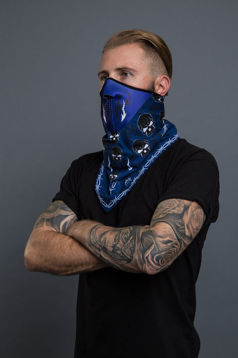 - Bandana Mask - Tribal Skull Bandana Mask - 2