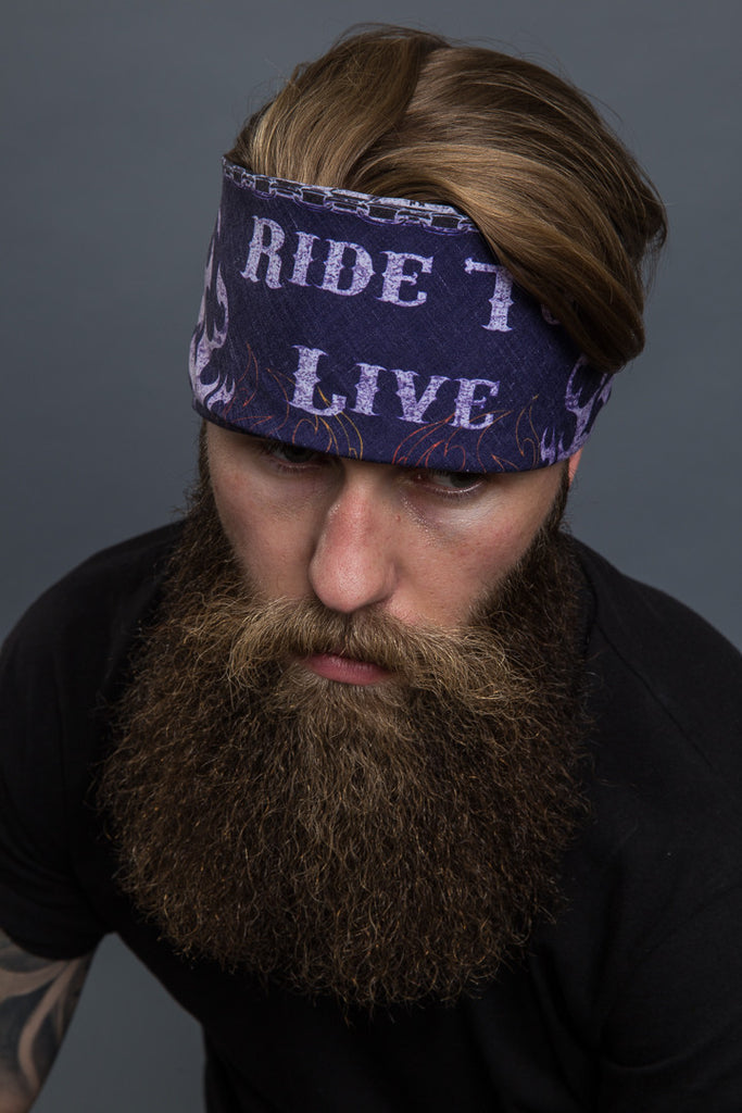 "Ride to Live 24.5"" Bandana"
