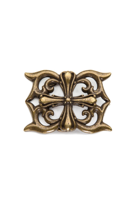 - Belt Buckle - Fleur de-lis Cross Belt Buckle - 1