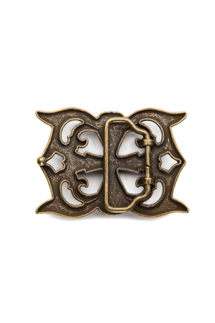 - Belt Buckle - Fleur de-lis Cross Belt Buckle - 2